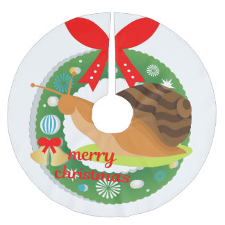 Saia Para Árvore De Natal De Poliéster saia da árvore do caracol do Feliz Natal