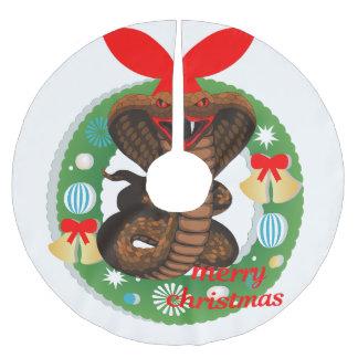 Saia Para Árvore De Natal De Poliéster saia da árvore do cobra da cobra do Feliz Natal