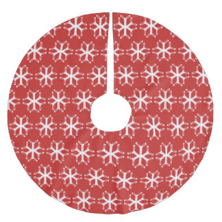 Saia Para Árvore De Natal De Poliéster Saia da árvore do Xmas do floco de neve das varas