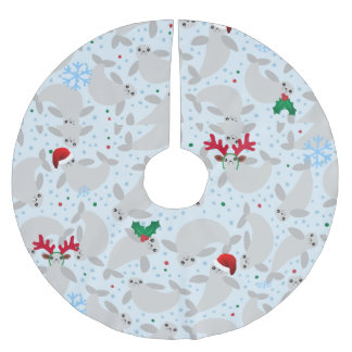 Saia Para Árvore De Natal De Poliéster saia da árvore do xmas do peixe-boi do Natal