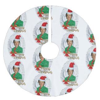 Saia Para Árvore De Natal De Poliéster saia da árvore do xmas Hillary clinton da feliz