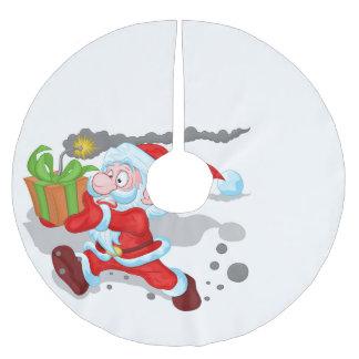 Saia Para Árvore De Natal De Poliéster Saia de tiquetaque da árvore do papai noel do