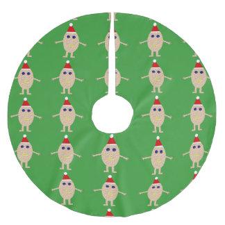 Saia Para Árvore De Natal De Poliéster Saia engraçada da árvore do ovo do Natal