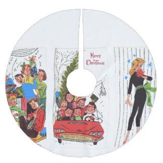Saia Para Árvore De Natal De Poliéster saia rockabilly da árvore do natal vintage