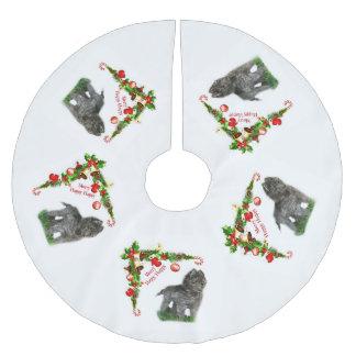 Saia Para Árvore De Natal De Poliéster Sheepdog belga