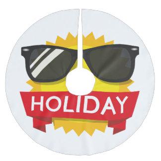 Saia Para Árvore De Natal De Poliéster Sol legal dos sunglass