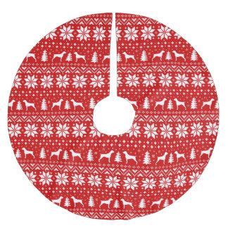 Saia Para Árvore De Natal De Poliéster Teste padrão alemão do Natal dos ponteiros de