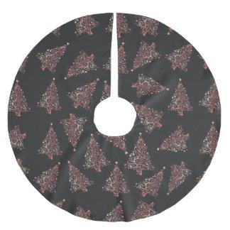 Saia Para Árvore De Natal De Poliéster Teste padrão cor-de-rosa moderno elegante da