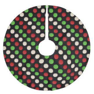 Saia Para Árvore De Natal De Poliéster Teste padrão de ponto branco verde vermelho