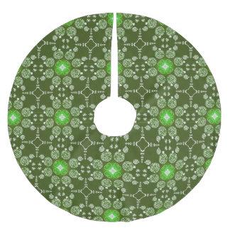 Saia Para Árvore De Natal De Poliéster Teste padrão decorativo da poinsétia do Natal