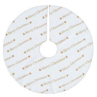 Saia Para Árvore De Natal De Poliéster Teste padrão do Feliz Natal da tipografia do Natal