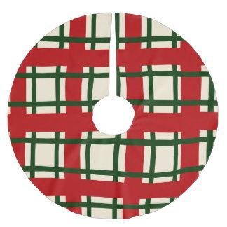 Saia Para Árvore De Natal De Poliéster Teste padrão do feriado - cruz dos criss