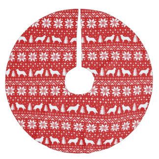 Saia Para Árvore De Natal De Poliéster Teste padrão revestido liso da camisola do Natal