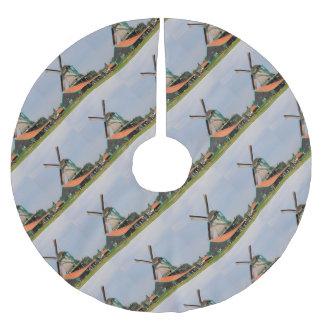 Saia Para Árvore De Natal De Poliéster Vila holandesa do moinho de vento, Holland 3