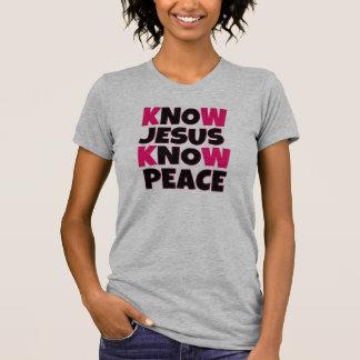 Saiba que Jesus sabe a camisa das mulheres da paz Tshirt