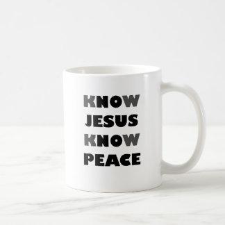 SAIBA QUE JESUS SABE A PAZ CANECA
