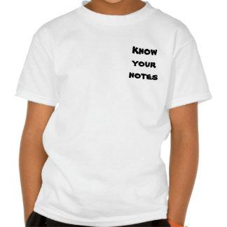 Saiba suas notas tshirts
