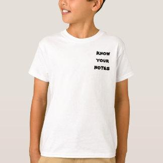 Saiba suas notas tshirt