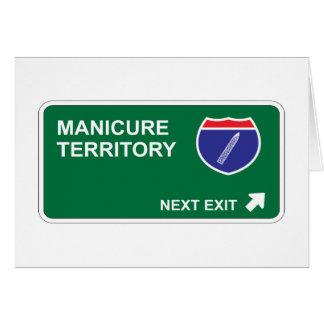 Saída seguinte do Manicure Cartões