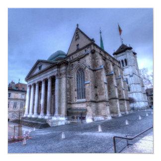 Saint Pierre da catedral, Peter, Genebra, suiça Convite Quadrado 13.35 X 13.35cm