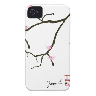 sakura e 7 pássaros cor-de-rosa 2, fernandes tony capa para iPhone