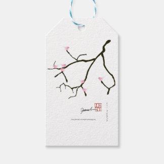 sakura e 7 pássaros cor-de-rosa 2, fernandes tony etiqueta para presente