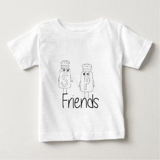 Sal e pimenta - amigos camiseta para bebê