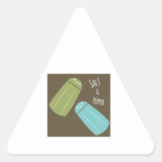 Sal e pimenta adesivo triângulo
