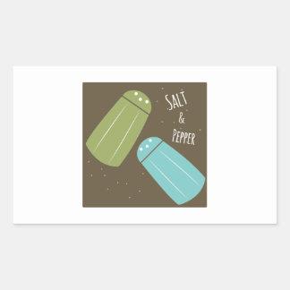Sal e pimenta adesivos retangular