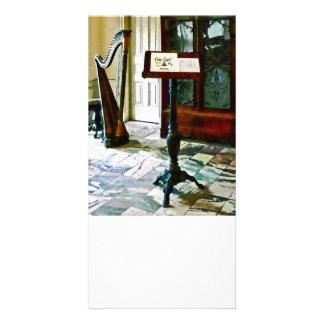 Sala da música com harpa cartão com foto