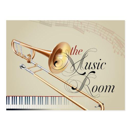 Sala da música do Trombone Cartão Postal