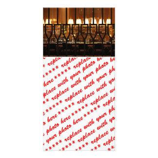 Sala de bar vazia cartao com foto personalizado