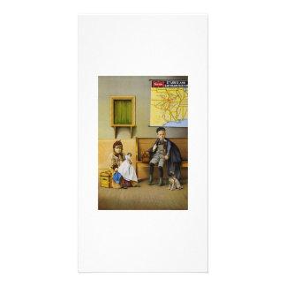 Sala de espera cartao com fotos