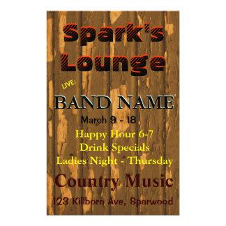 Sala de estar, música ao vivo da taberna do bar panfletos