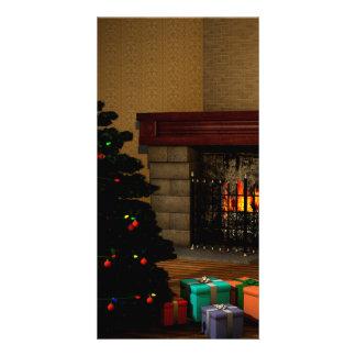 Sala do Natal Cartão Com Foto