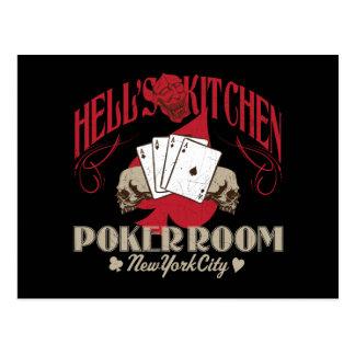 Sala do póquer da cozinha dos infernos, cartão da