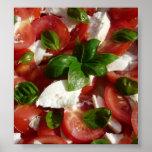 Salada do tomate e da mussarela impressão