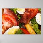 Salada do tomate e do bacon impressão