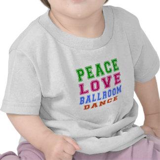 Salão de baile de Azonto do amor da paz Camiseta