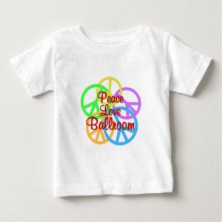 Salão de baile do amor da paz camiseta para bebê