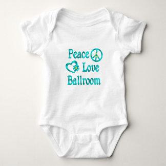 Salão de baile do amor da paz camisetas