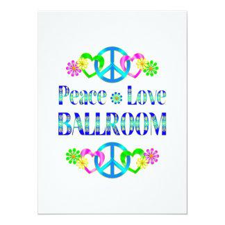 Salão de baile do amor da paz convites personalizados
