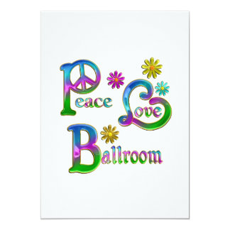 Salão de baile do amor da paz convite