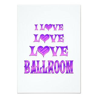 Salão de baile do amor do amor convites personalizado