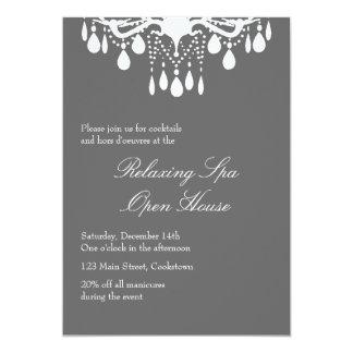 Salão de baile grande cinzento de Smokey da casa Convites Personalizado