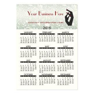 Salão de beleza 2015 do prego do calendário do cartão de visita grande