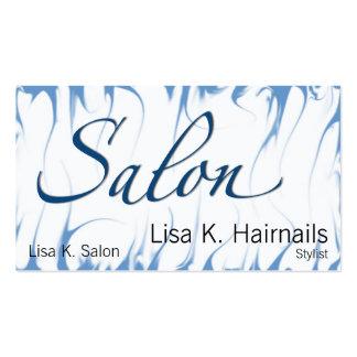 Salão de beleza Afire azul Cartão De Visita