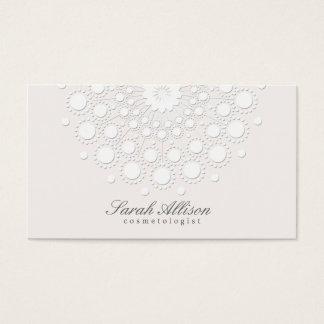 Salão de beleza branco e termas do Cosmetologist Cartão De Visitas