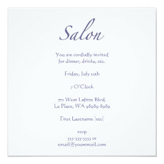 Salão de beleza convite personalizados