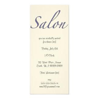 Salão de beleza convite 10.16 x 23.49cm